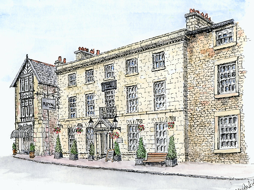 Royal Hotel, Kirkby Lonsdale mounted print