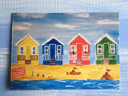 'Beach Huts' Card. 40