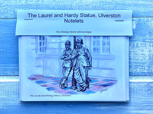 Laurel and Hardy Statue Notelets