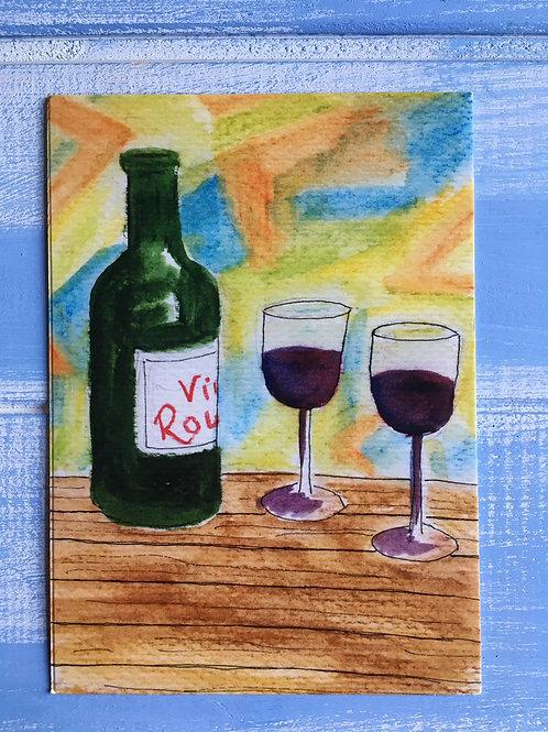 'Vin Rouge' Card 30
