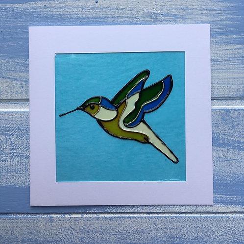 Handmade Card. Humming Bird. 49