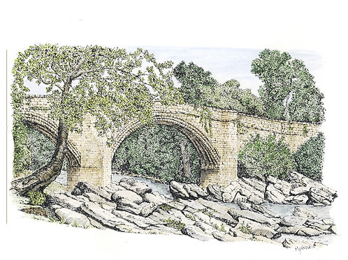 Devil's Bridge, Kirkby Lonsdale mounted print