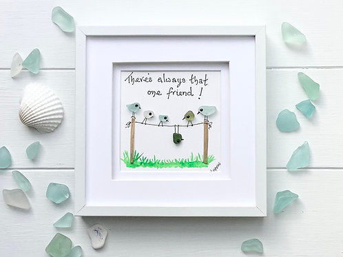 Sea Glass Art Framed Picture. Always one!