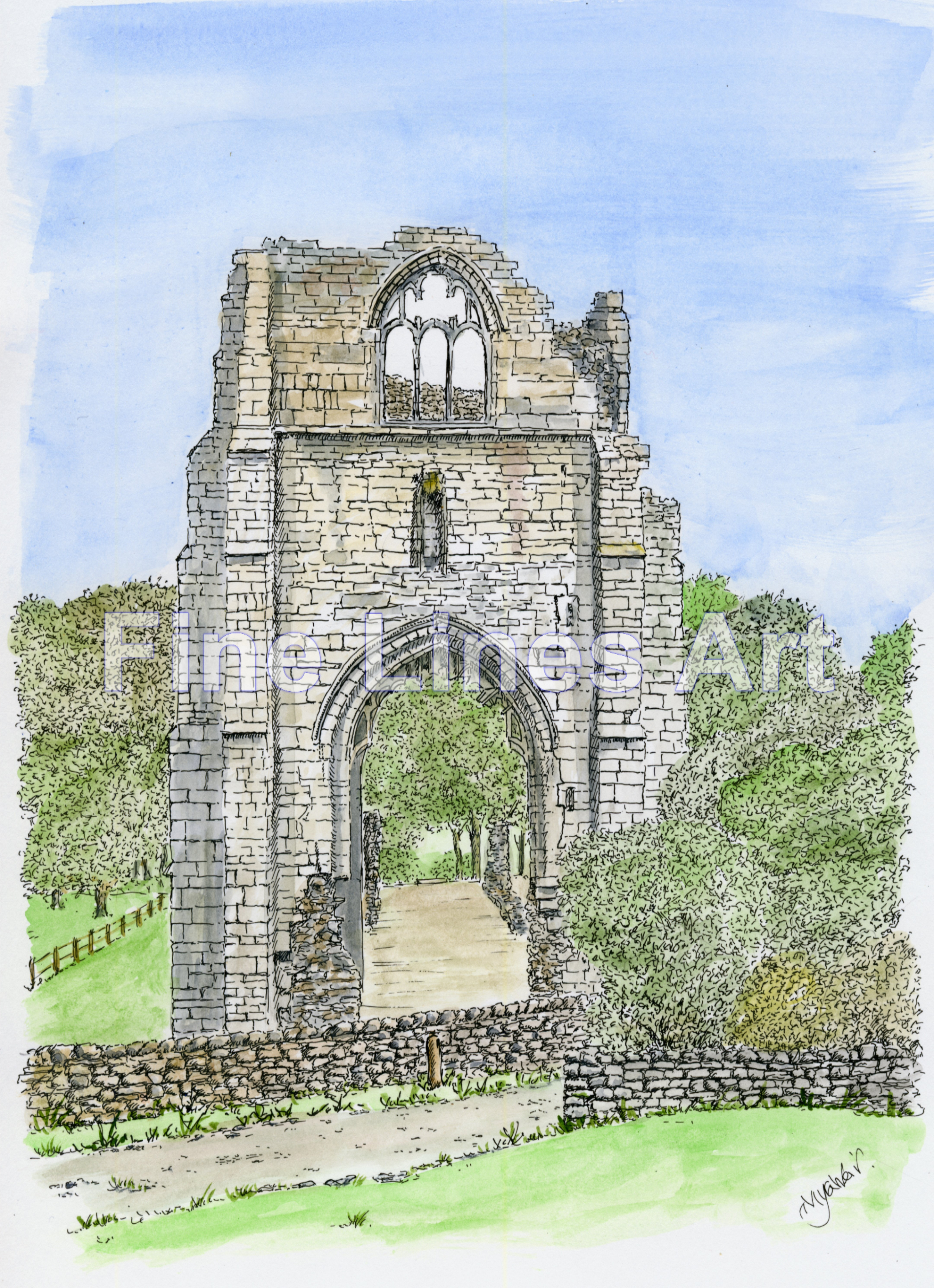 Shap Abbey, Cumbria, UK