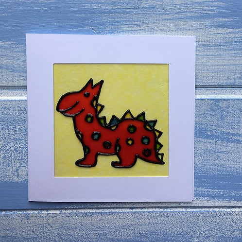 Handmade Card. Dinosaur. 17