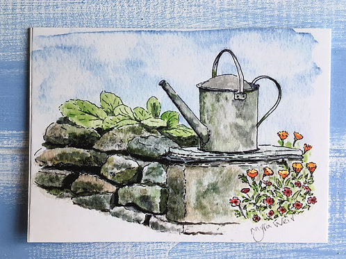 'The Watering Can' Card. 42