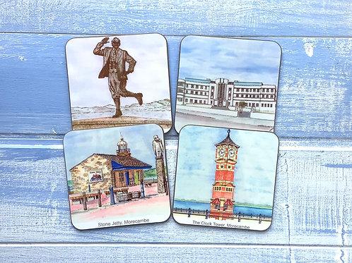 Morecambe Coaster Set (4 different scenes)