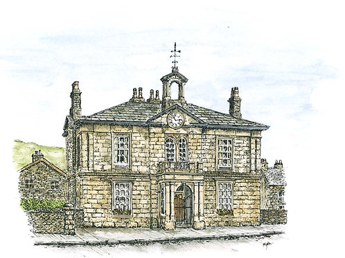 Old Savings Bank, Kirkby Lonsdale mounted print