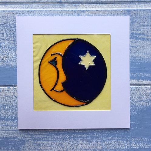 Handmade Card. Moon. 22