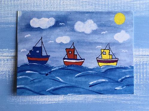 'Three Ships' Card. 37