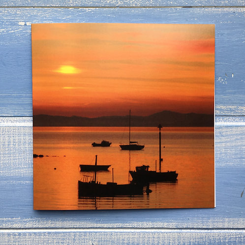 Greeting Card, Morecambe Bay Sunset. 57