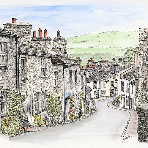 Mitchelgate, Kirkby Lonsdale mounted print