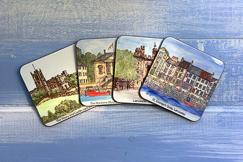 Lancaster Coaster Set (4 different scenes)