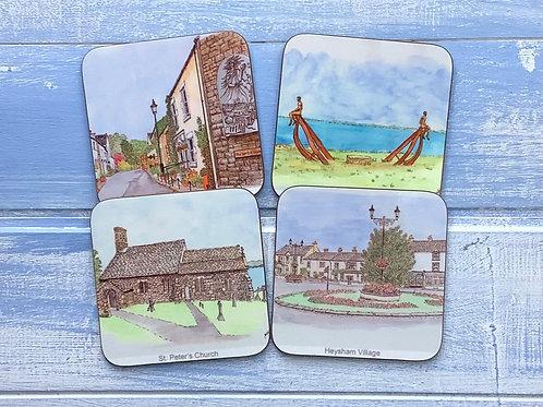 Heysham Coaster Set (4 different scenes)
