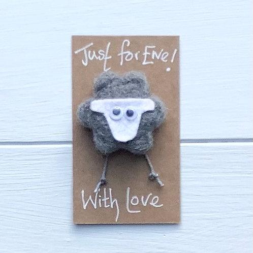 2. Just for Ewe! Herdwick Sheep fridge magnet or brooch. Pure wool.Inc. p+p
