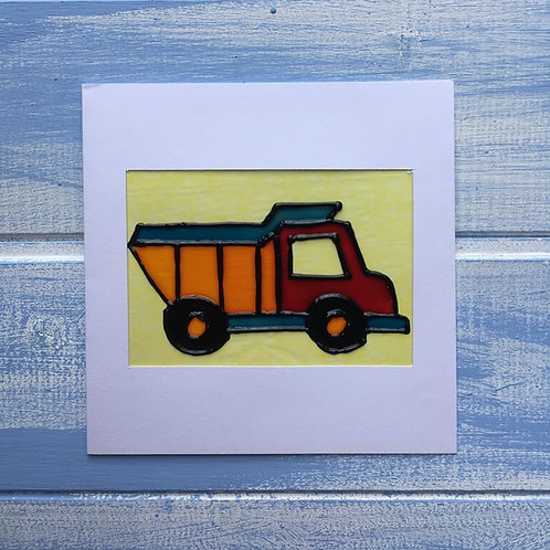 Handmade Card. Dumper Truck. 19