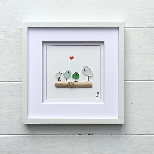 Sea Glass Art Framed Picture Free UK delivery