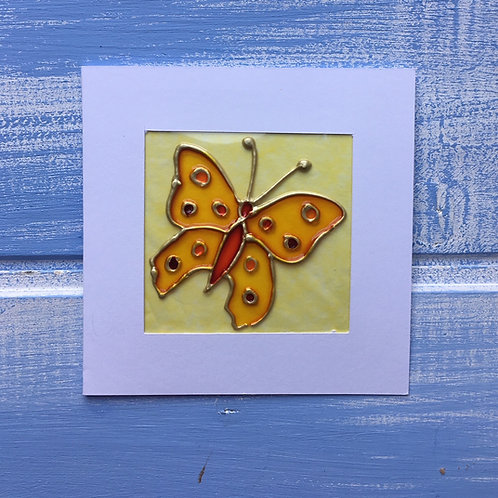 Handmade Card. Yellow Butterfly. 13