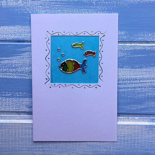 Handmade Card. Fish. 6