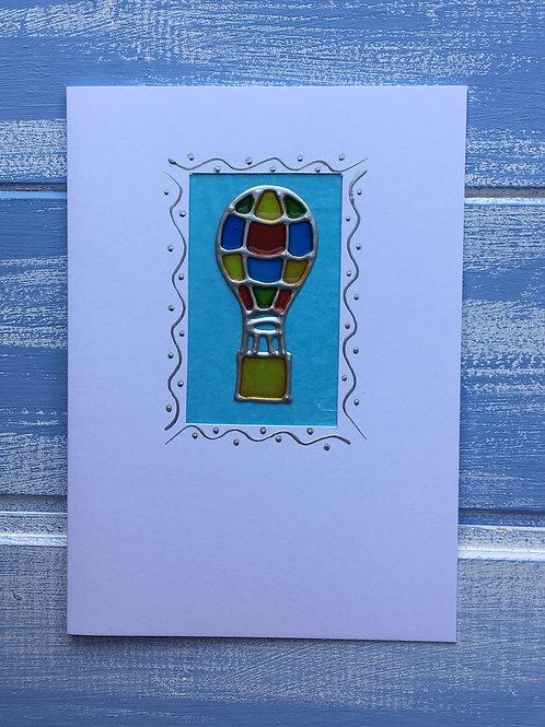 Handmade  Card. Hot Air Balloon. 7