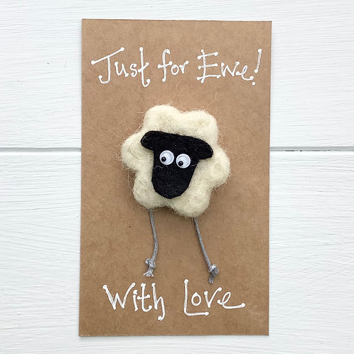 1. Sheep fridge magnet or brooch. Pure wool. Just for Ewe! Inc. p+p