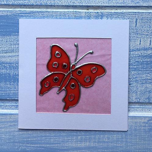 Handmade Card. Pink Butterfly. 12
