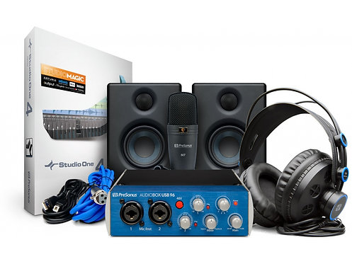 PRESONUS AudioBox 96 Studio Ultimate Bundle AudioBox 96 USB mit Eris E3.5, Mik,