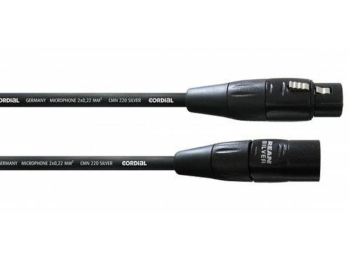 CORDIAL CIM 0.5 - 20m - Mikrofonkabel SilverLine