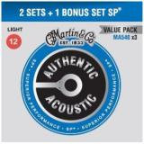3 Set Pack Authentic Ac. Ph. Bronze .012-.054 Light, (1x MA535 for Free !)