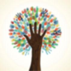 community hand tree