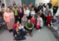 Willow Tree Community members at an Advent gatheing