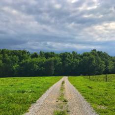 Gravel roads for walking