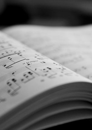 Sheet Music, musical notes, open book