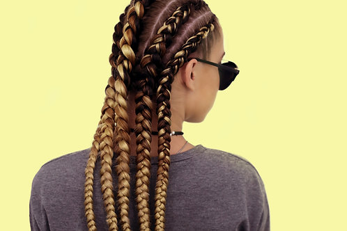 FEED-IN BRAIDS (SMALL STRAIGHT BACK)