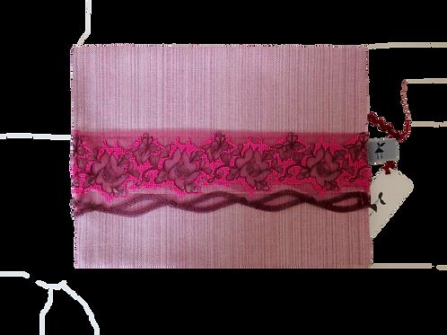 Pochette rose brossé