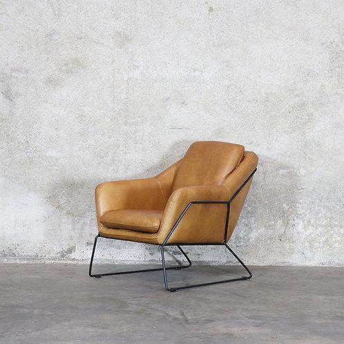Workshop Leather Armchair - Tan
