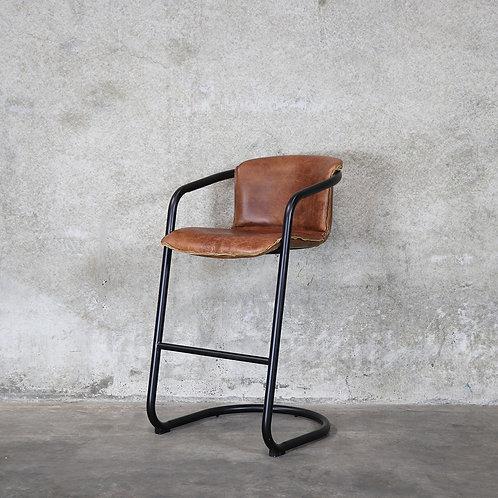 Bealey Leather Barstool - Tan
