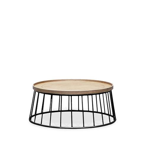 Reid Coffee Table - Oak/Black