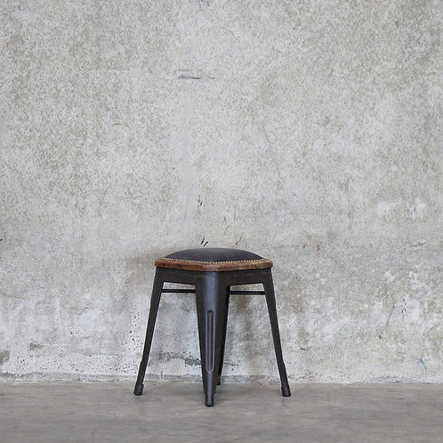 Colonial Stool, 45cm - Leather Seat