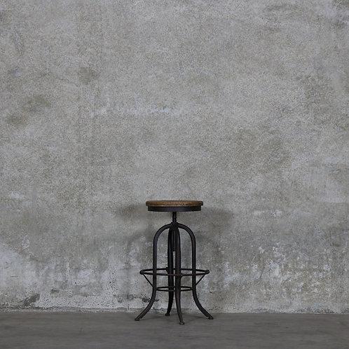 Clement Stool, Rustic Finish - Elm Seat