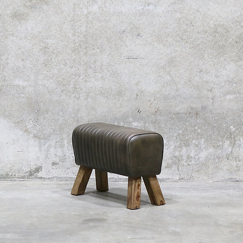 Short industrial / pommel style leather bench seat