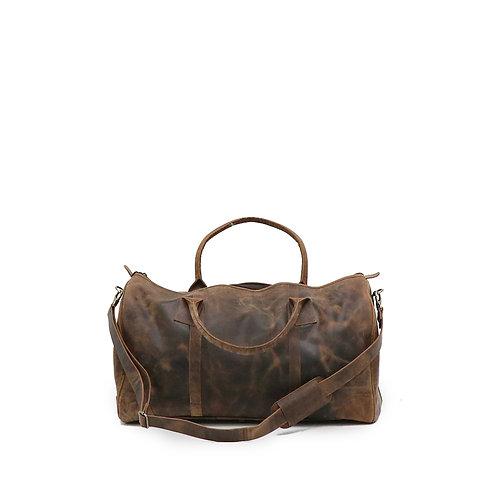 vintage style, genuine leather duffle bag