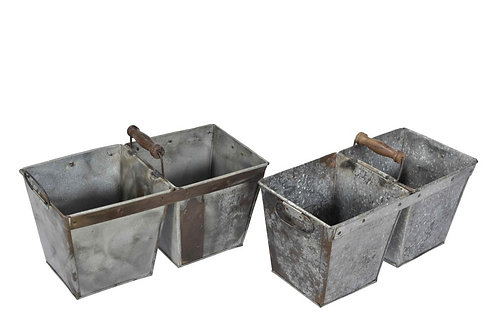 Original Balti Iron Planter - Double