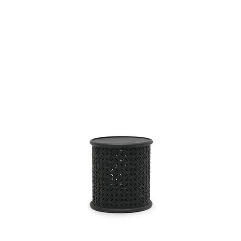 Bamileke Side Table - Aged Black