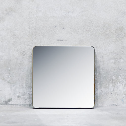 Pablo Powdercoated Brass Colour Mirror - 80cm - Square
