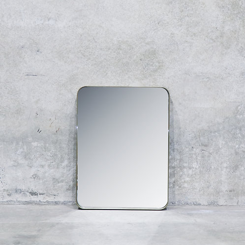 Pablo Powdercoated Brass Colour Mirror - 80cm - Rectangle