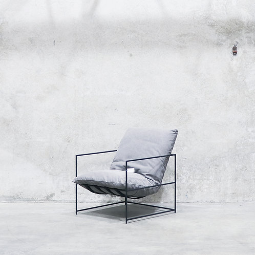 Lauro Club Chair - Charcoal