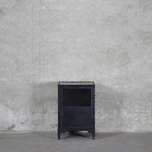Bank Iron Bedside Table - Mesh Door