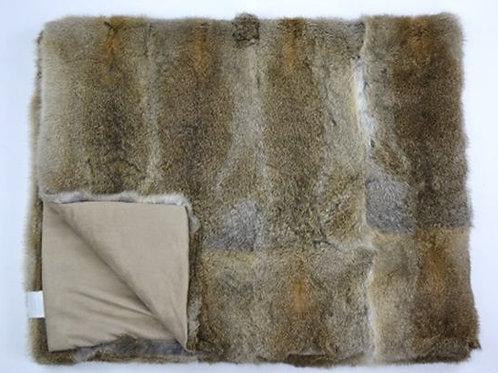 Arctic Rabbit Throw - Full Skin Natural