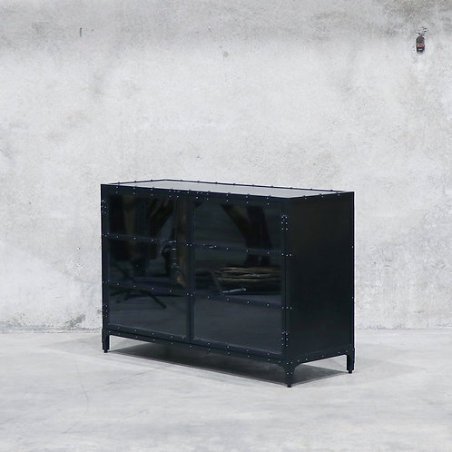 Bank Iron & Glass Sideboard - 138cm